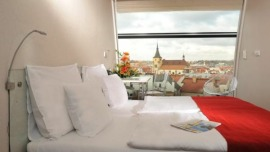 Metropol Hotel Design Prague Praha - Zweibettzimer mit Aussicht